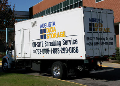 On-Site Document Shredding Truck