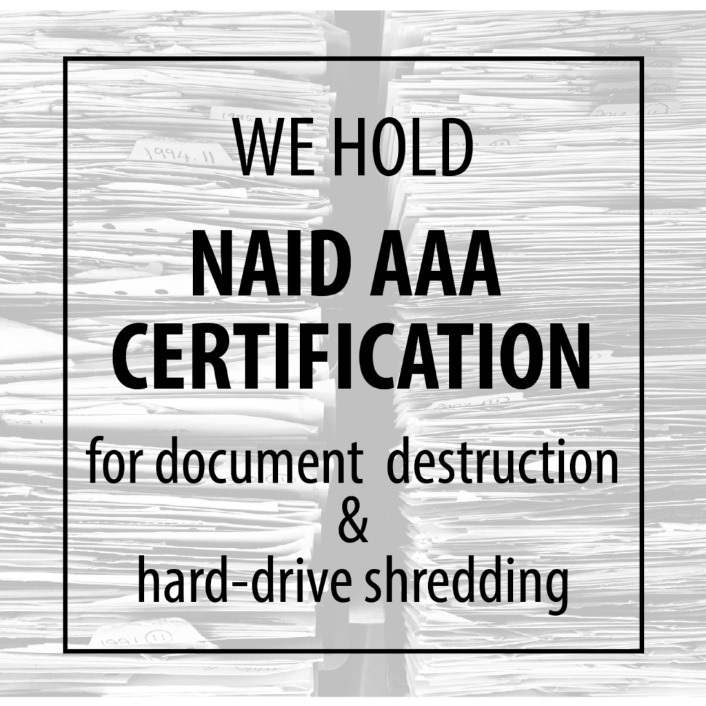 Take A Look Inside The Naid Aaa Certification Process Augusta Data