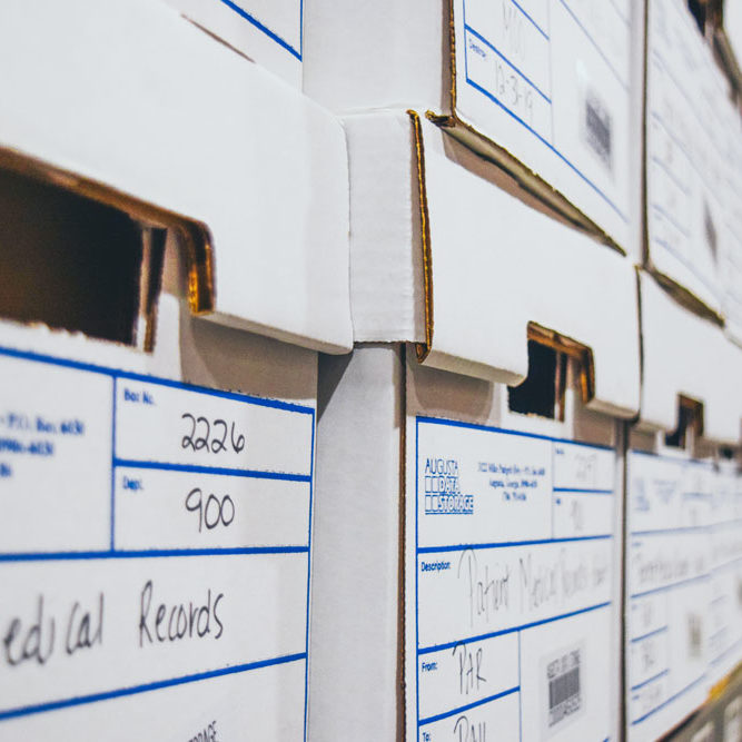 RECORDS MANAGEMENT - RECORDS STORAGE BOXES - safe and secure storage